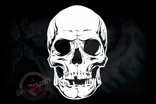 Airbrush Schablone für Schädel - Totenkopf - Skull Kopf Stencil Groß
