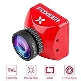 FPV Camera Foxeer Toothless 2 Mini Camera 1200TVL 1,7 mm M12 Obiettivo con sensore da 1/2 pollice...
