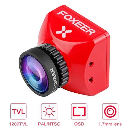 FPV Kamera Foxeer Toothless 2 Mini 1200TVL 1,7 mm M12 Objektiv mit 1/2 Zoll Sensor Super HDR Kamera und Super Weitwinkel FOV 4: 3 16: 9 NTSC PAL Unterstützung OSD Fernbedienung FC für Racing Drone