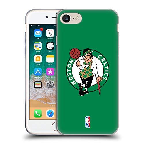 Head Case Designs Oficial NBA Claro Boston Celtics Carcasa de Gel de Silicona Compatible con Apple iPhone 7 / iPhone 8 / iPhone SE 2020