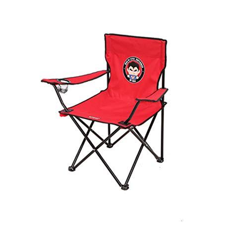 ZJH Chaise Pliante Portable avec Support de Tasse à Repose-Bras et Sac de Transport et de Rangement, pour extérieur, Camp, Pique-Nique, randonnée, Multicolore en Option,E