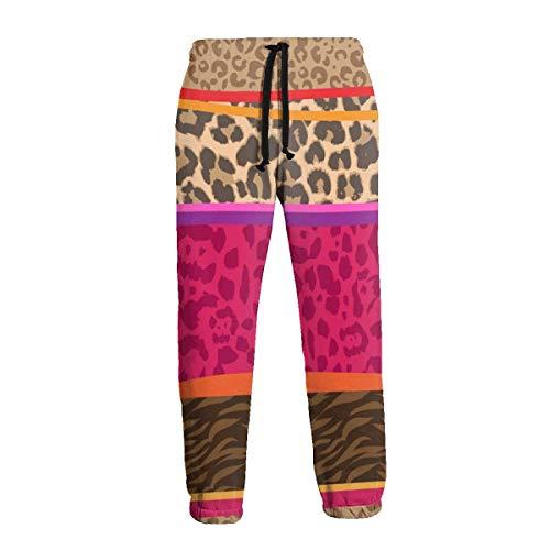 Animal Mix Zebra Skin Men 'S Pantalones Deportivos Pantalones Deportivos con Bolsillos