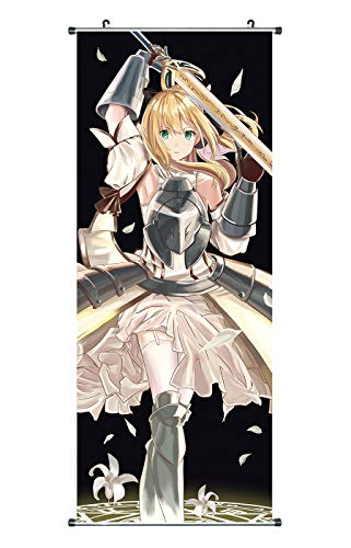 CoolChange großes Fate Stay Night Unlimited Codes Rollbild / Kakemono aus Stoff, 100x40cm, Motiv: Saber Lily
