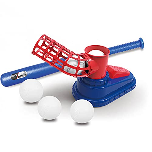 Juego de Pelota de béisbol Lanzador de béisbol automático Juguetes Máquina de Lanzamiento Emergente de Béisbol para Exteriores Lanzador de béisbol Entrenamiento Bate de béisbol Juguete