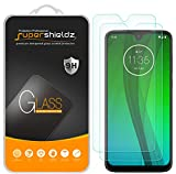 (2 Pack) Supershieldz Designed for Motorola Moto G7 Tempered Glass Screen Protector, Anti Scratch, Bubble Free