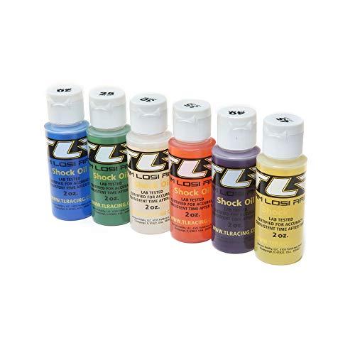 TEAM LOSI RACING Shock Oil, 6Pk, 20, 25, 30, 35, 40, 45, 2oz, TLR74020