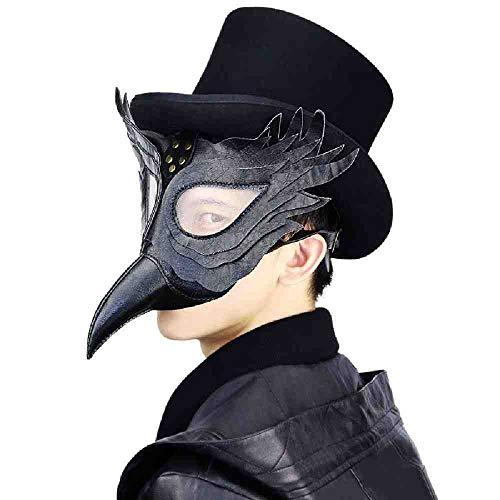 AYLWKS 1 ST Plague Doctor Masker Beak Doctor Masker Lange Neus Cosplay Fancy Masker Lederen Halloween Party snavel Masker Film Thema Props