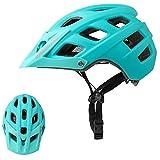 Exclusky Casco de Bicicleta de montaña, Casco Adulto IN-Mold 21 Agujeros con Visera extraíble Ajustable y Ligero para la protección de Seguridad del Ciclo,56/61cm (Azul)