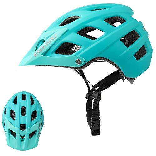 Exclusky Erwachsene Fahrradhelm für Männer Mountain-Bike L 56-61cm (Blau)