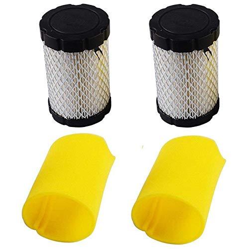 Accesorios Para Cortacéspedes Cortadora de reemplazar los filtros de aire Briggs & Stratton 796031 (591334 o 594201) Plus 797.704 prefiltro de espuma (Pack de 2) Accesorios para herramientas de jardín