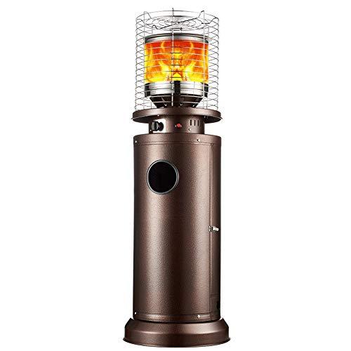 XWX Gas Patio Heater Comperature Regolabile in Piedi Patio Elettrico Stand Piazza Patio Heater Nero Wicke 11KW Burner