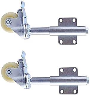 TCWDX Spring-type zwenkwielen, Φ2.5/3/4 inch Heavy-duty deurwiel rem Caster schokdemper, Meubelvervanging Caster Trolley/p...