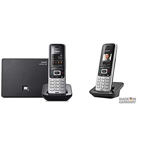 Gigaset S850A GO - Schnurlostelefon mit Anrufbeantworter, Platin-Schwarz & S850HX Universal-Mobilteil - Schnurloses IP-Telefon (zum Anschluss an Basisstation oder Router) Platin-schwarz