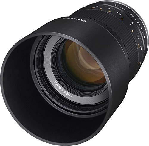 Samyang MF 50mm F1.2 APS-C Fuji X schwarz - manuelles Foto Objektiv mit 50mm Festbrennweite für APS-C Kameras mit Fuji X-Mount, ideal für Portrait, sanftes Bokeh, kompakt und leicht