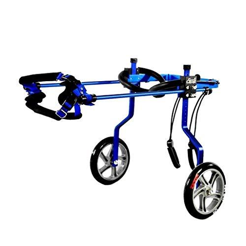 Cornice in metallo Pet Sedia a rotelle per sedia a rotelle per la sedia a rotelle posteriore per la schiena Gambe, carrello per cani Pet Sedia a rotelle per le gambe posteriori per disabili Piccolo ca