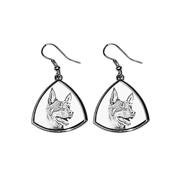 Australian Kelpie, collection of earrings with images of purebred dogs, unique gift 1