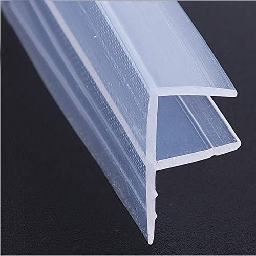 Silicone afdichtingsstrips 100 cm H/F/U/Eckttype Toepasselijke glasdikte 6 mm afdichtstrip voor frameloze glazen deuren en -ramen badkamerafdichting 1 Maand H