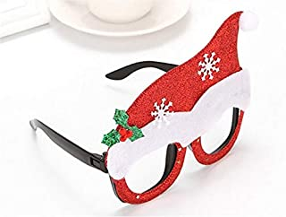 Pengcher Christmas Hat Christmas Ornaments Glasses Frames Evening Party Toy Xmas Gifts Decoration Without Lenses