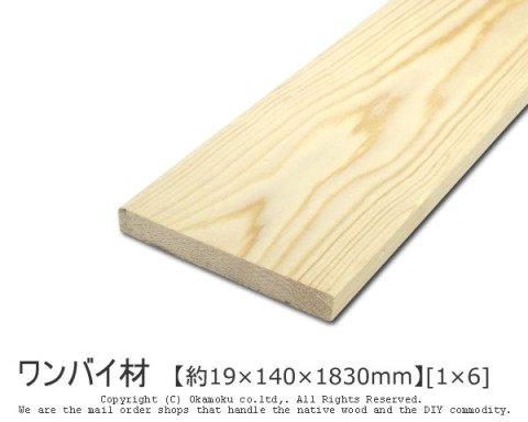 ワンバイ材 【約19×140×1830mm】[1×6]1本入り【O】