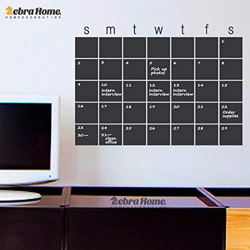 Muursticker DIY kalender Blackboard Maandelijkse Planner Whiteboard Muursticker Modern Blackboard muurbehang Home Decoration-SMTWTFS koeldier