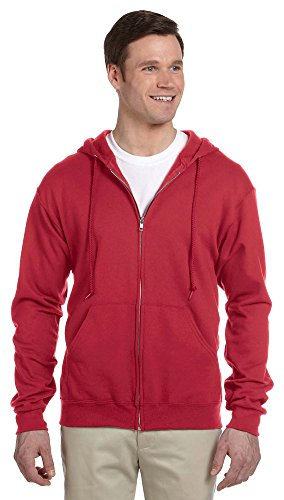 Jerzees Activewear - Nublend Full Zip Hood, Red, XL