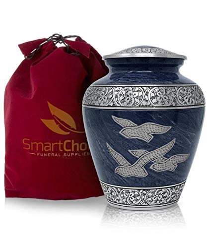 Smartchoice Cremation Urns for Human Ashes Adult - Handcrafted Funeral Memorial Ashes Urn Wings of Freedom Cremation Urn