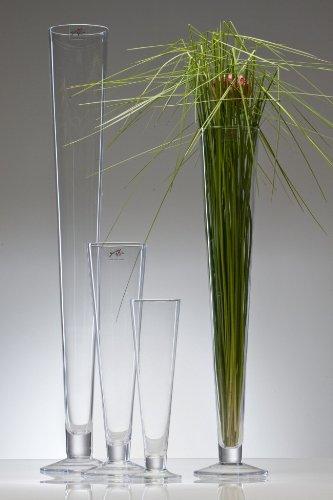 Glasvase CIELO Glas Vase Tischvase Blumenvase konisch 40 cm
