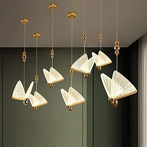 GHGD Lámpara Colgante LED Moderna con Forma De Mariposa, Candelabro De Material Acrílico Y Lámpara Colgante Regulable Accesorios De Iluminación Adecuados para Dormitorios, Dormitorios, Cocina