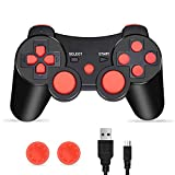 PS3 Controller, PS3 Controller Wireless, PS3 Joystick, CFORWARD Wireless Rechargeable Gamepad Double Vibration Remote Compatible for Playstation 3