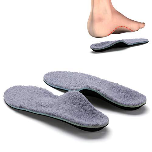 VALSOLE Plantillas Ortopédicas soportes de arco y talones la absorción de choque- para el dolor de talón, pie plano, Fascitis Plantar, dolor de rodilla y espalda (46-47 EU (295mm), gray-V107E)