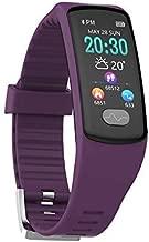 ZMEETY Smart Watch Bracelet E07 ECG Heart Rate Motion Measurement Waterproof Smart Bracelet,Purple