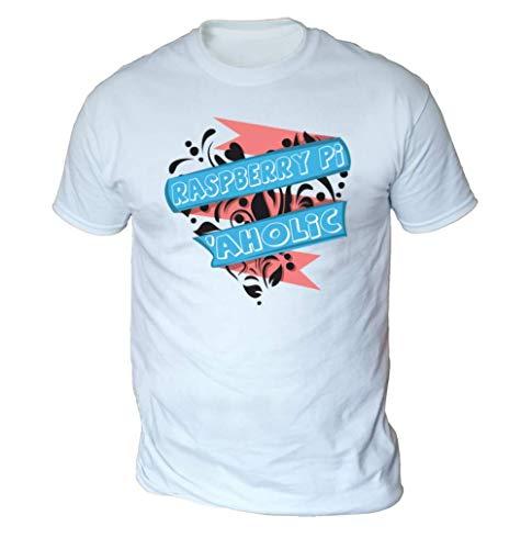 Raspberry Pi Aholic Mens T-Shirt [White XXL]