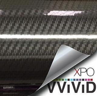 VVIVID Epoxy High Gloss Black Carbon Vinyl Automotive Wrap Film DIY Easy to Install No..
