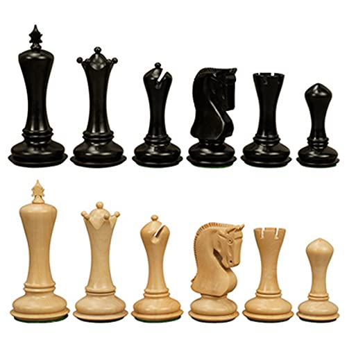 Top Houten Schaakspel Game Padauk en Buxus Schaakstukken Koning Hoogte 11 Cm Schaakbord Familie Puzzel Spel Houten ornamenten(Color:A)