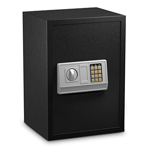 """Safstar Electronic Digital Safe, Large Sized Solid Steel Security Keypad Lock Box for Home Office Hotel Business, Jewelry Cash Money Passport Gun Cabinet (14"""" x 12"""" x 20"""")"""