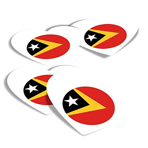 Vinyl Heart Stickers (Set of 4) - East Timor Dili Fun Decals for Laptops,Tablets,Luggage,Scrap Booking,Fridges #9108