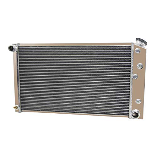 "CoolingSky 52MM 3 Row Core Aluminum Radiator for 1968-1987 Chevrolet GMC C/K Pickup Chevelle Caballero Caprice LeSabre &More Buick GM Cars丨34"" Overall Width"