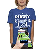PIXEL EVOLUTION T-Shirt 3D Rugby Clermont en Réalité Augmentée Enfant - Taille 12/14 Ans - Bleu Royal