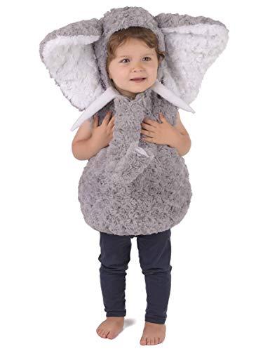 generique Costume da elefante grigio per bambino 3-4 anni (98-104 cm)