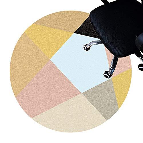 XIEBA Schreibtischmatte Für Teppichstuhl, Bodenschutzmatten Für Rollstuhl, Computer-Stuhlmatte Für Spiele, Runder Teppich Teppich(Size:80cm/31.5in,Color:B.)