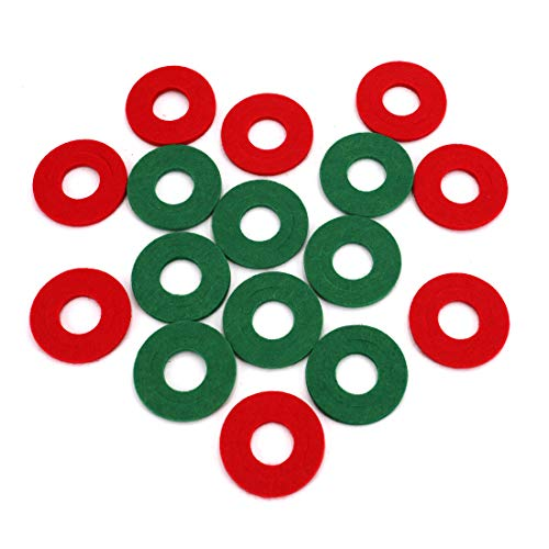 UTSAUTO Battery Terminal Anti Corrosion Washers Fiber 16 Pieces Battery Terminal Protector (8 Red and 8 Green)