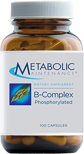 Metabolic Maintenance B-Complex Phosphorylated - Active B Vitamins with Methyl B12, Vitamin B6 as P-5-P + Methylfolate 5-MTHF Supplement - Energy + Nerve Support Nutrients (100 Capsules)