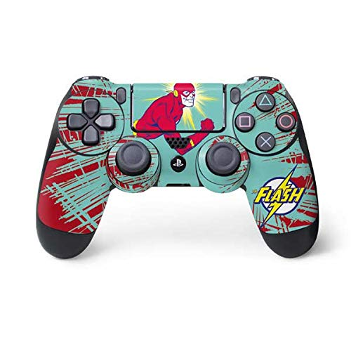 Skinit Decal Gaming Skin for PS4 Controller - Officially Licensed Warner Bros Flash Smile Blast Design
