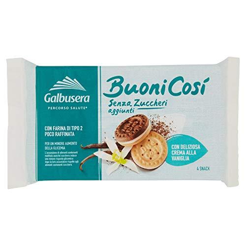 Galbusera Biscotti Farciti senza Zuccheri Aggiunti, 4 Pezzi