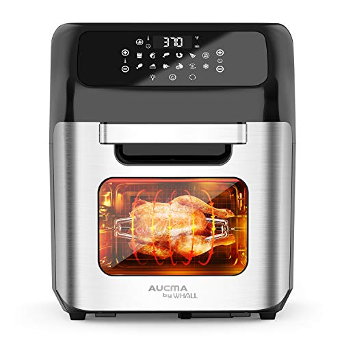 whall Air Fryer 13QT Air Fryer Oven Family Rotisserie Oven 1700W Electric Air Fryer Toaster Oven Tilt led Digital Touchscreen 12in1 Presets for Baking Roasting Dehydrating with Accessories