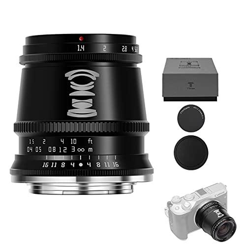 TTArtisan 17mm F1.4 APS-C Objektiv mit manuellem Fokus, kompatibel mit EOS M-Mount Kameras M1 M2 M3 M5 M6 M6Il M10 M100 M50