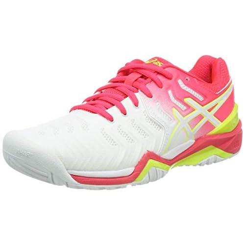 ASICS Gel-Resolution 7, Scarpe da Tennis Donna, Bianco (White/Laser Pink 116), 36 EU