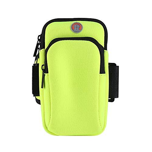 RTY Deportes al aire libre Artículos brazo bolsa de muñeca neopreno bolsa de teléfono móvil hombres y mujeres corriendo fitness teléfono móvil brazo bolsa verde