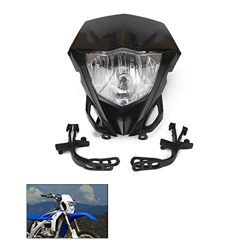 H4 12V 35W Universal Modified Headlight Head Lamp For Motorcycle Dirt Pit Bike (Black)
