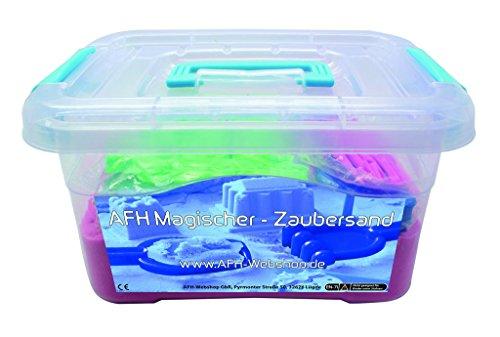 AFH-Webshop Therapie Sand | Magischer Zaubersand | Knetsand | Indoor Sand | 2 KG mit umfangreichen Zubehör (pink)